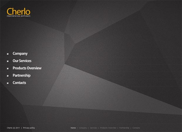 full javascript animated website template