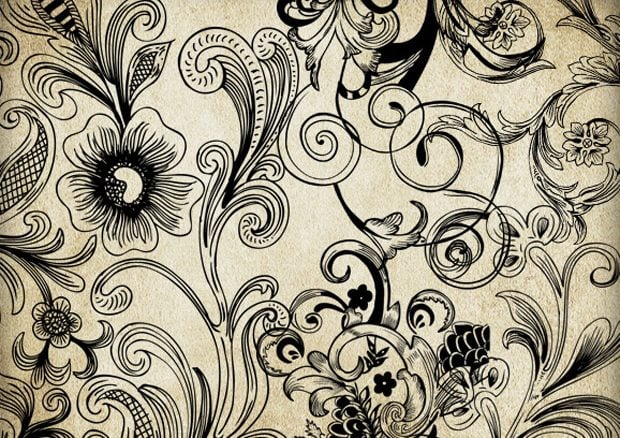 50 Free Swirl & Floral Brushes for Photoshop