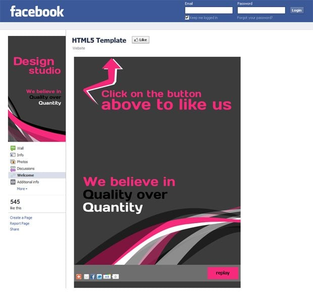 renewed facebook reveal tab templates