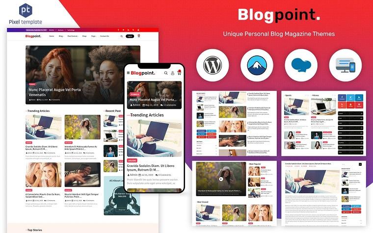 Blogpoint - Blog & Newspaper WordPress Theme.