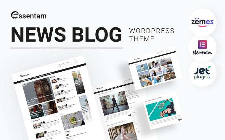 Essentam - News Blog Multipurpose Classic WordPress Theme.