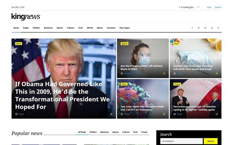 King News - Multipurpose Website Template.