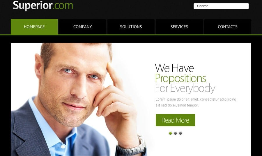 Free Website Template with jQuery Slider for Business Project