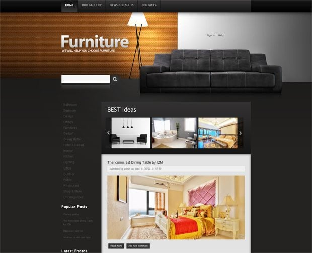 Drupal website templates with extra features monsterpost Home furniture online websites