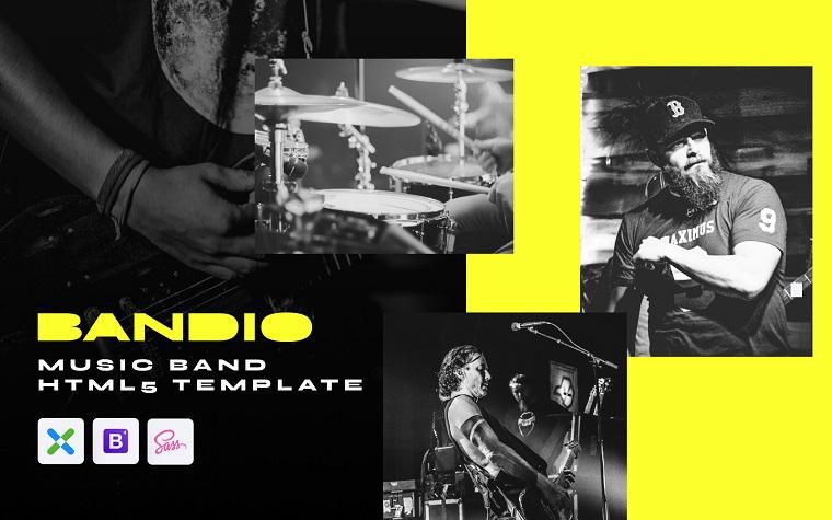 Bandio - Modern HTML5 Music and Band Website Template.