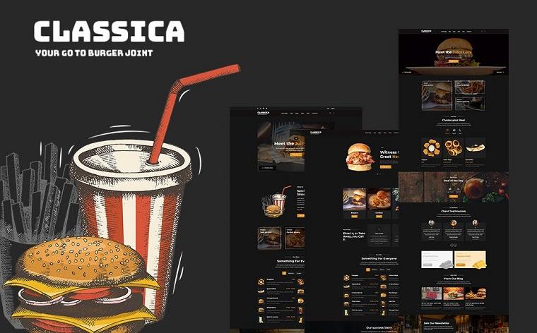 Classica - Burger Joint HTML5 Website Template.