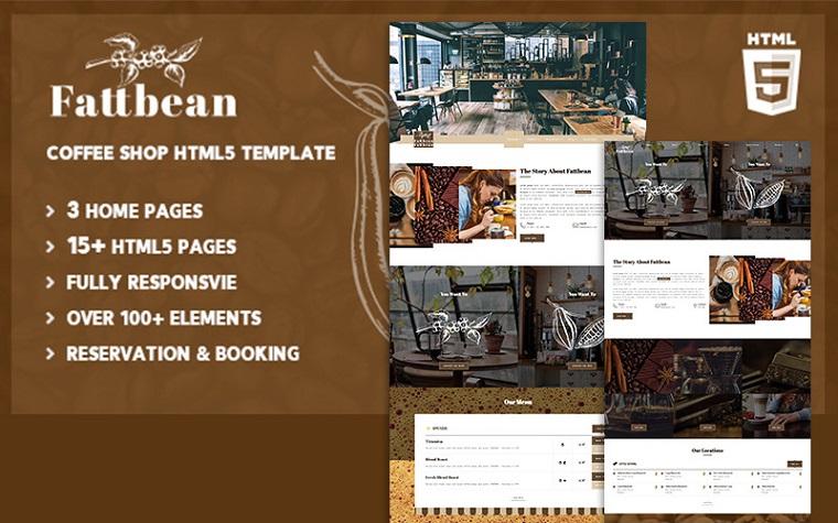 Fattbean | Coffee Shop & Barista HTML5 Website Template.
