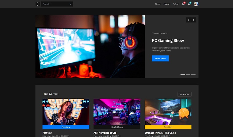 Joxdo - ESports, Online Game and Gaming Store HTML Website Template.