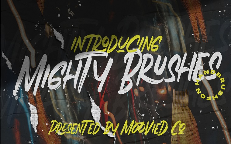 Mighty Brushes Font
