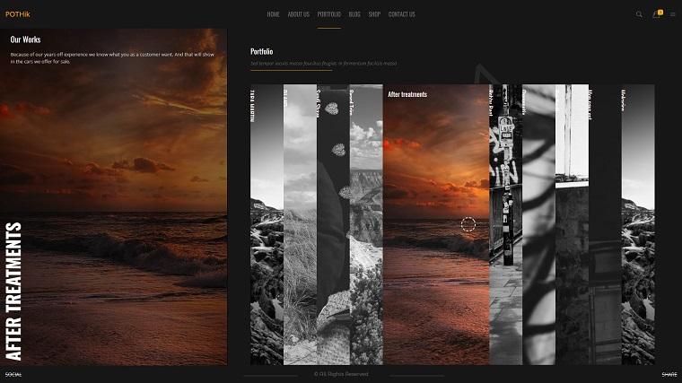 Pothik - Digital Creative Photography Portfolio Website Template.