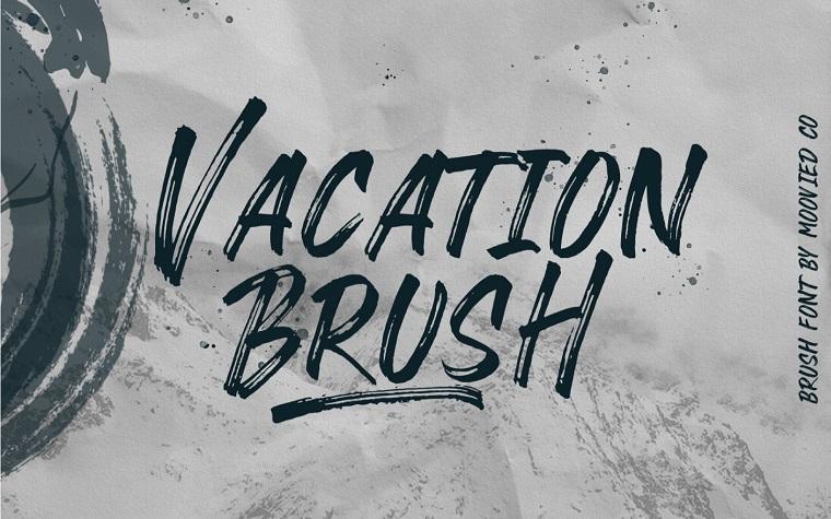 VACATION BRUSH Font