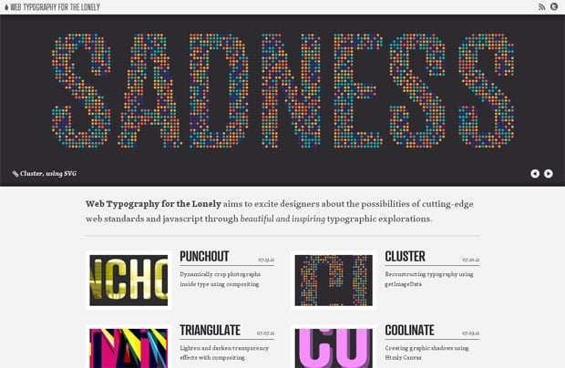huge typography in web design