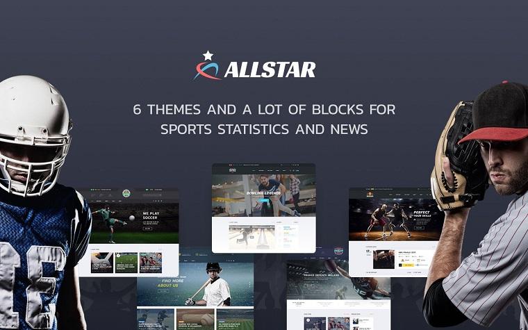 ALLSTAR - Sport Multipurpose Bootstrap 4 Website Template.