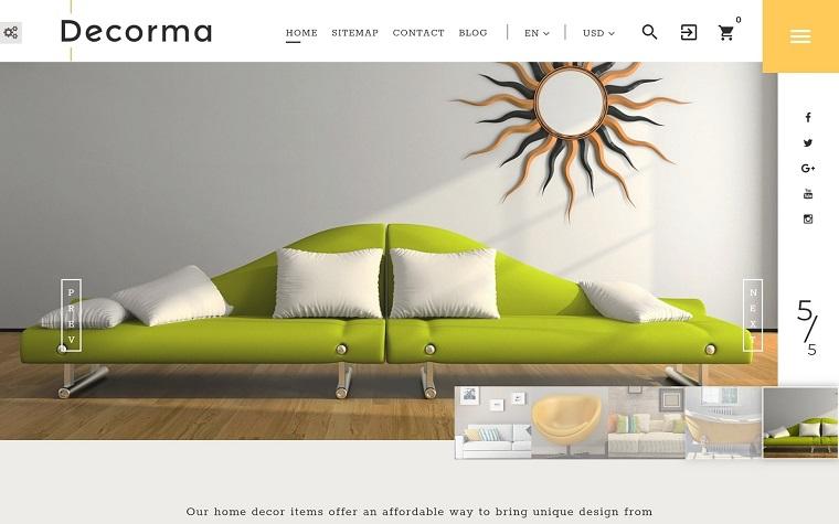 Decorma - Interior Design PrestaShop Theme