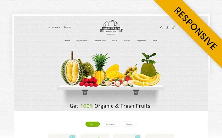Fresh Organic Store OpenCart Template