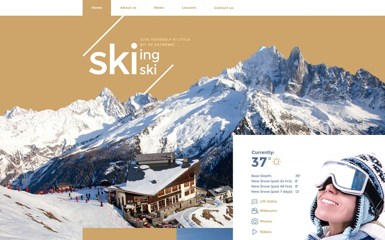Skiing Website Template.