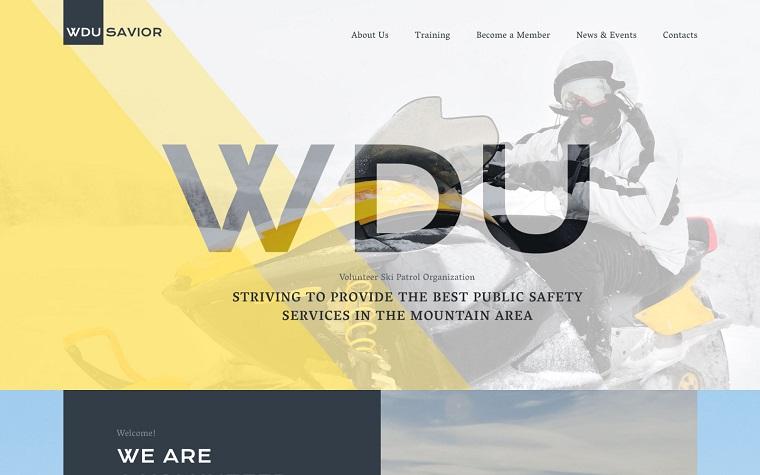 WDU Savior Website Template.