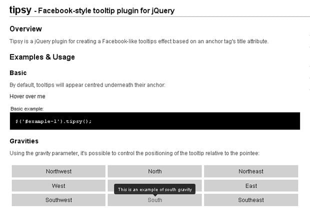 30 jQuery Tooltip Plugins to Improve User Experience