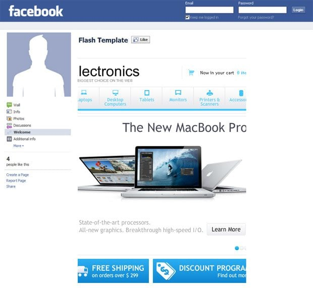 facebook-store-template-electronics