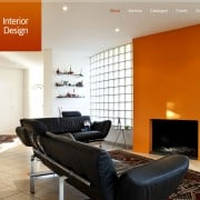 Free Full JavaScript-Animated Template for Interior Design Website