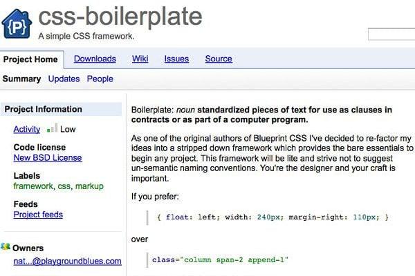 Boilerplate CSS Grid