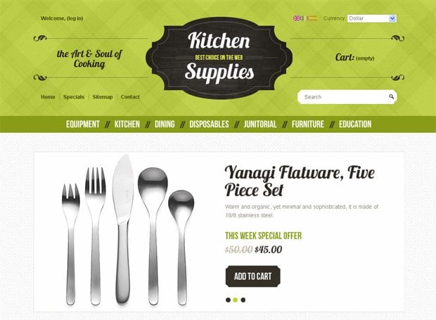 ecommerce templates creative homepages