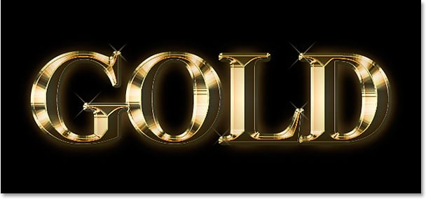gold text effect photoshop