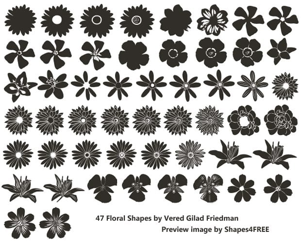 Flower Custom Shapes