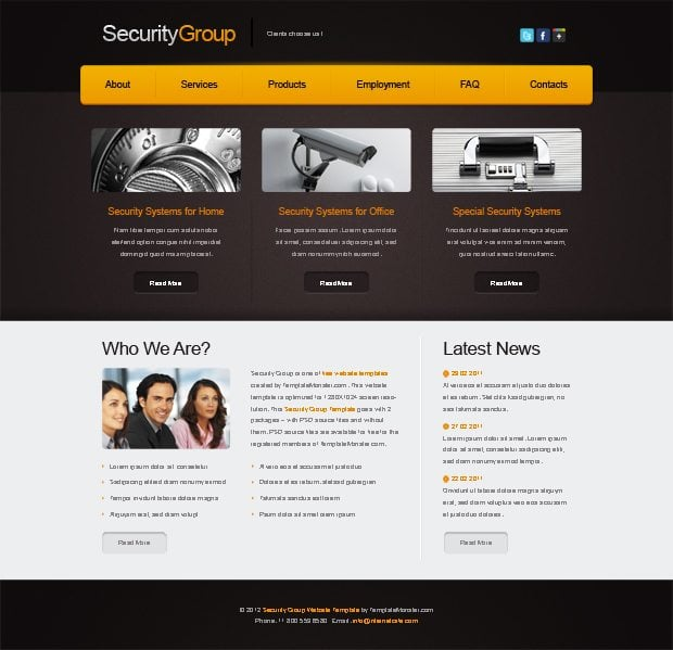 free website templates  templatemonster spring 2012 collection