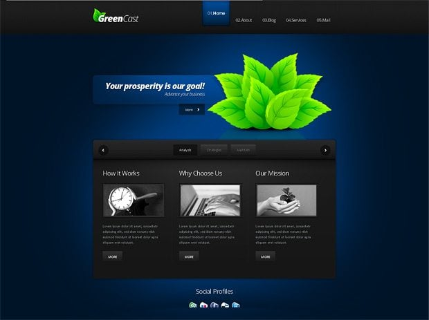 GreenCast theme 38167