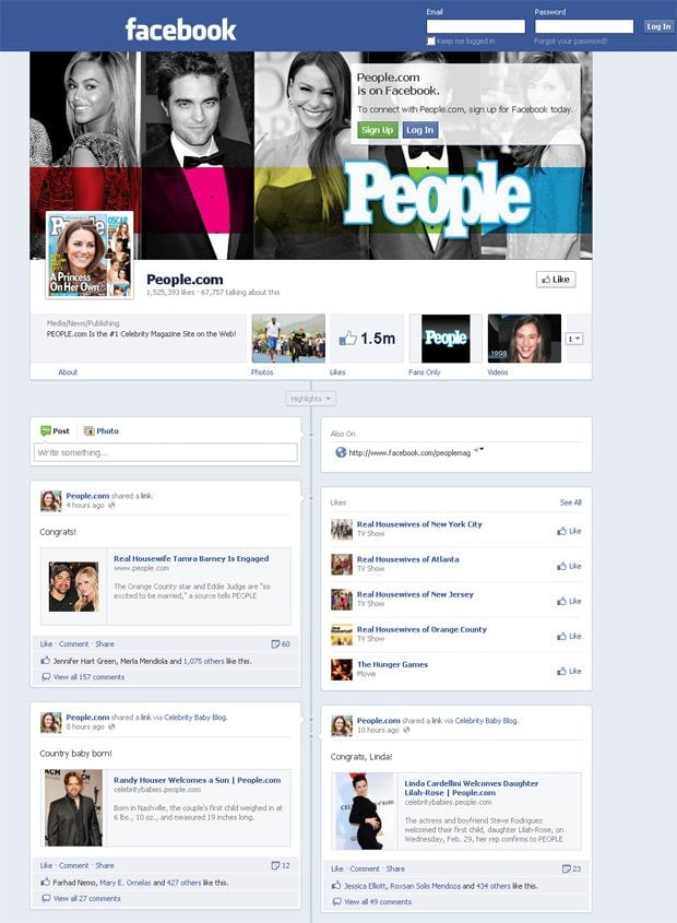 New Facebook Timeline Pages and How We Revamp Our Facebook ... Facebook Page Timeline Example