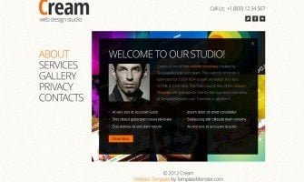 Free Full JavaScript Animated Template for Web Design Studio