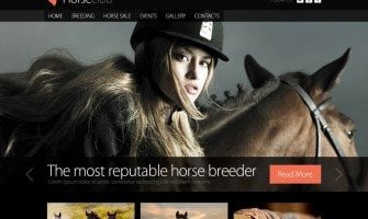 Free Website Template for Horse Club with jQuery Slider and Zoomer Effect