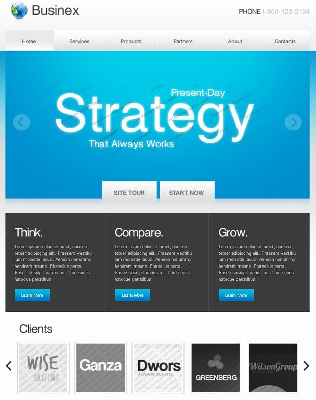 PRO website templates roundup