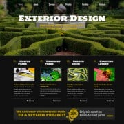 Free Website Template Powered by jQuery Slider for Exterior Design Project