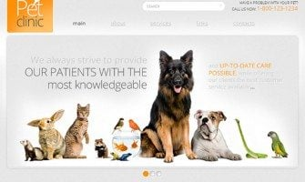 Free Website Template with jQuery Slider for Pet Clinic