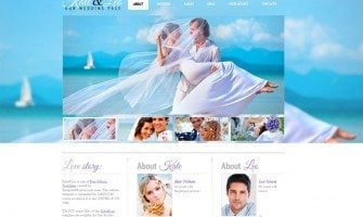 Free Website Template with jQuery Slider for Wedding Page