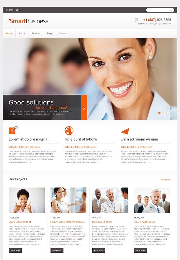 Jquery business website template zesloka 60 free responsive html5 css3 website templates wajeb Choice Image
