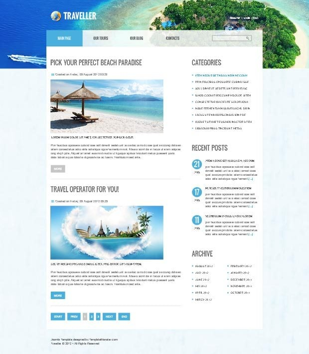 free website templates templatemonster autumn 2012 collection