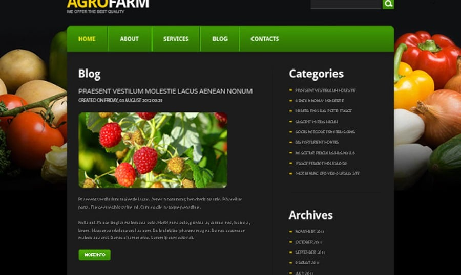 Make Your Agro Business Grow with Free Joomla Theme!