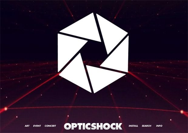 website with polygonal design elements