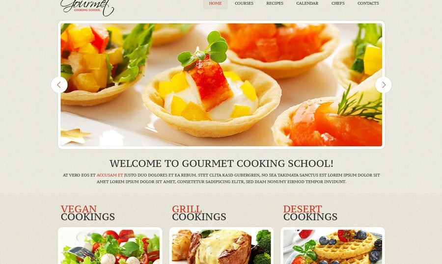 Tasty-Looking Skin for Culinary Site – Monday Freebie