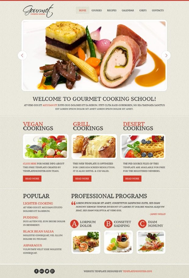 Tasty Looking Skin For Culinary Site Monday Freebie