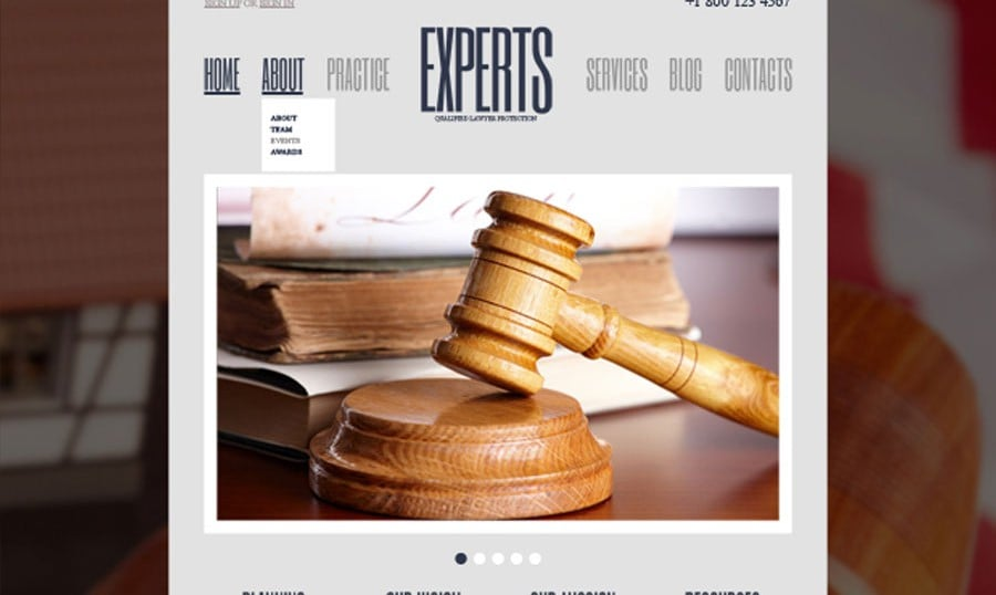 Your Weighty Utterance Online – Free WordPress Law Firm Theme