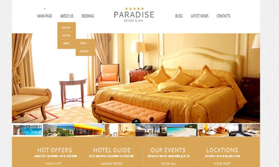 Free WordPress Theme for Hotel – a Warm Welcome to Your Clients
