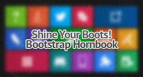 Bootstrap Hornbook Interactive Infographic