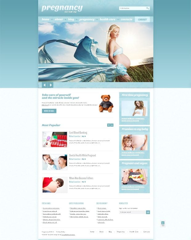 Free WordPress Health Theme Make Health an Online Trend   MonsterPost zGpFTFSk