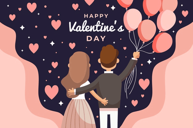 flat-design-valentine-s-day-background-with-back-view-couple