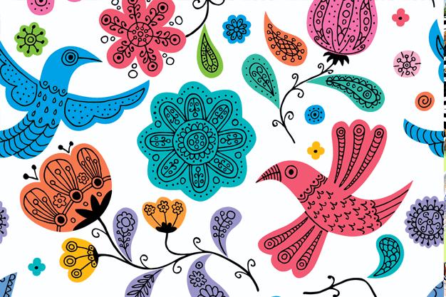 Floral Doodles Pattern Illustration