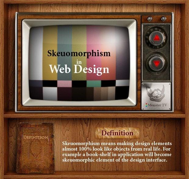 skeuomorphic design infographic